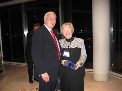 Chancellor David R. Peterson, Eleonore Schumacher - Photo by Barbara Dick