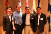 Kevin Leung (BASc 1998 COMP), Peter Forster, Richard Liu (Canadians in China) and Barry Yiu (BASc 1983 VIC)