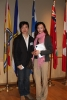 Kevin Leung (BASc 1998 COMP) with lucky draw winner Serena Wu Shuang