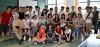 A group photo of alumni volunteers with U of T Summer Exchange Students before the departure of the tour
