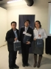 Prize winners pose with Prof. Shiu.