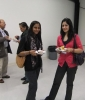 Neelu Walia (HBA 2006 UTSC) and Sarah Naqvi (HBSC 2006 UTSC) take a break from conversation and h'or d'oeuvres.  L-R: [front] Neelu, Sarah; [back] Roy Persaud (Guest), Saty Persaud (Guest)