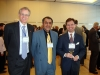 L to R: Daniel Abele, Head of Research and Academic Relations at the Embassy of Canada, Deepak Malhotra, Chair of All-Canada University Association,  Scott Shagory (MBA Class of 2011)