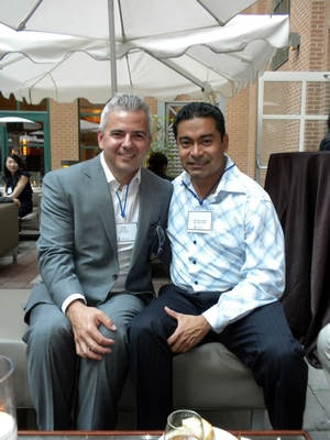 L-R: Kyle Winters, Executive Director of Corporate & Foundation Relations (MBA 2008 MGT), Francesco Juarez (HBA 1997 UTSC)